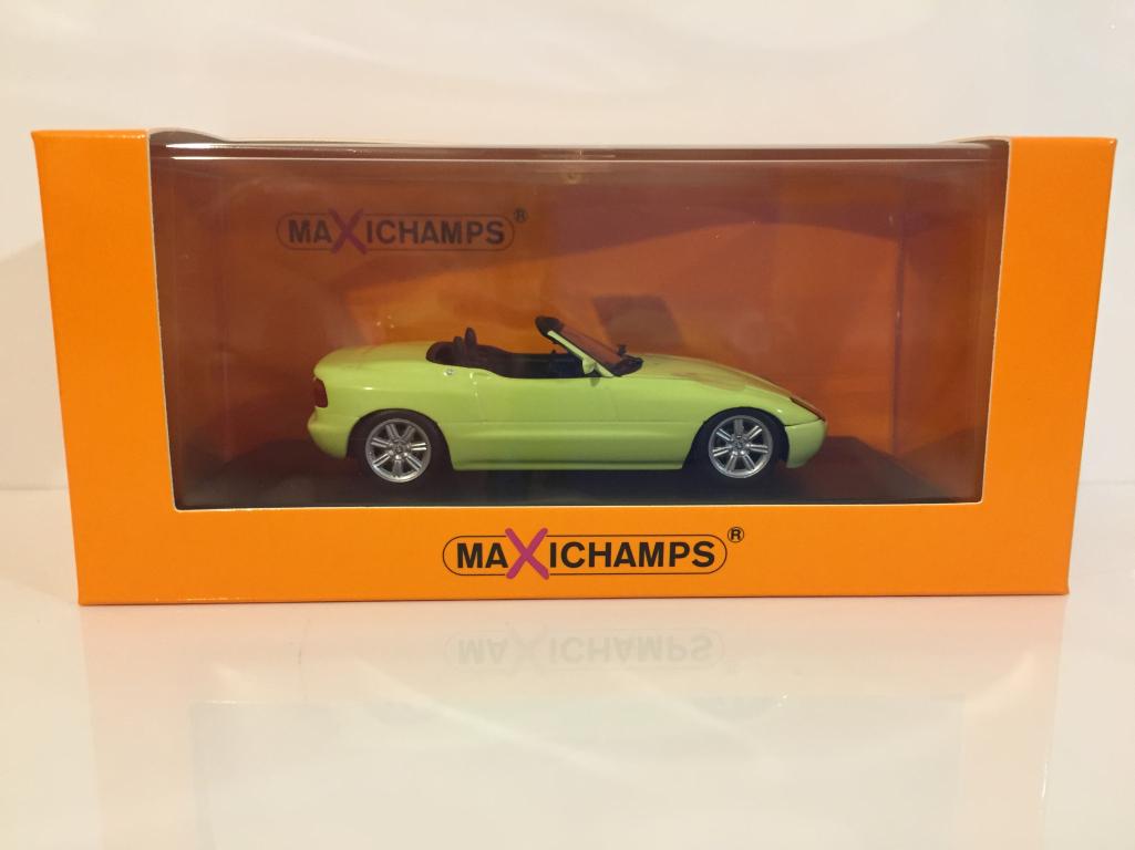 Maxichamps 940020100 BMW Z1 E30 1991 gelb 1:43 Maßstab
