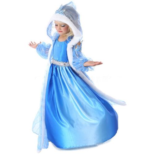 Kids Girl Party Fancy Dresses Elsa Dress Up Costume Princess Dress Fancy Clothes