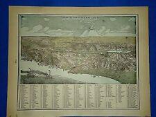 24x36 Vintage Reproduction Historic Map Atlanta Georgia 1892 Fulton County