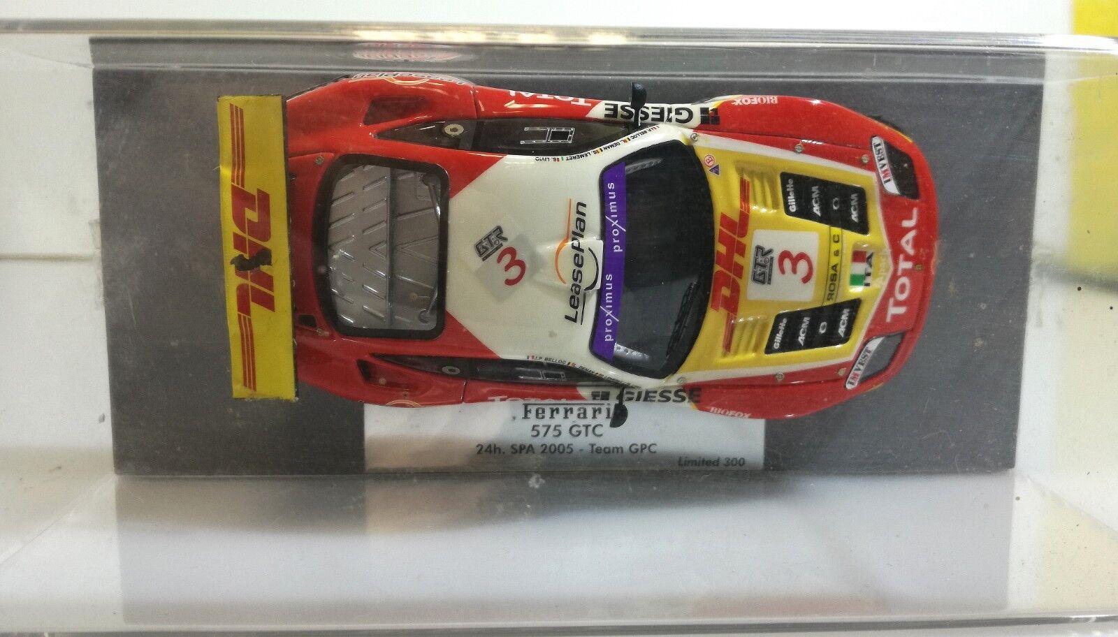 BBR Models 1 43 Scale Resin GAS10029 Ferrari 575 GTC SPA 2005 Team JPC