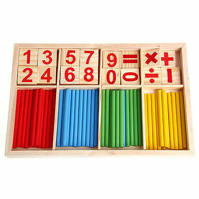 Kids Wooden Numbers Early Learning <b>Counting</b> Educational Toy ...