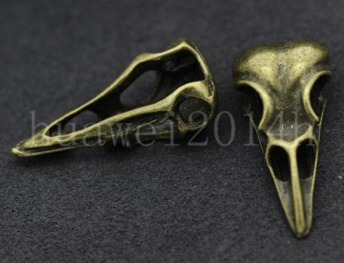 2//10//50pcs Vintage Tibetan Silver 3D Dinosaur skull Charms Pendant 32x15mm