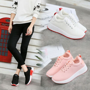 Women-Running-Shoes-Athletic-Casual-Sneakers-Sport-Tennis-Walking-Gym-Flat-shoes