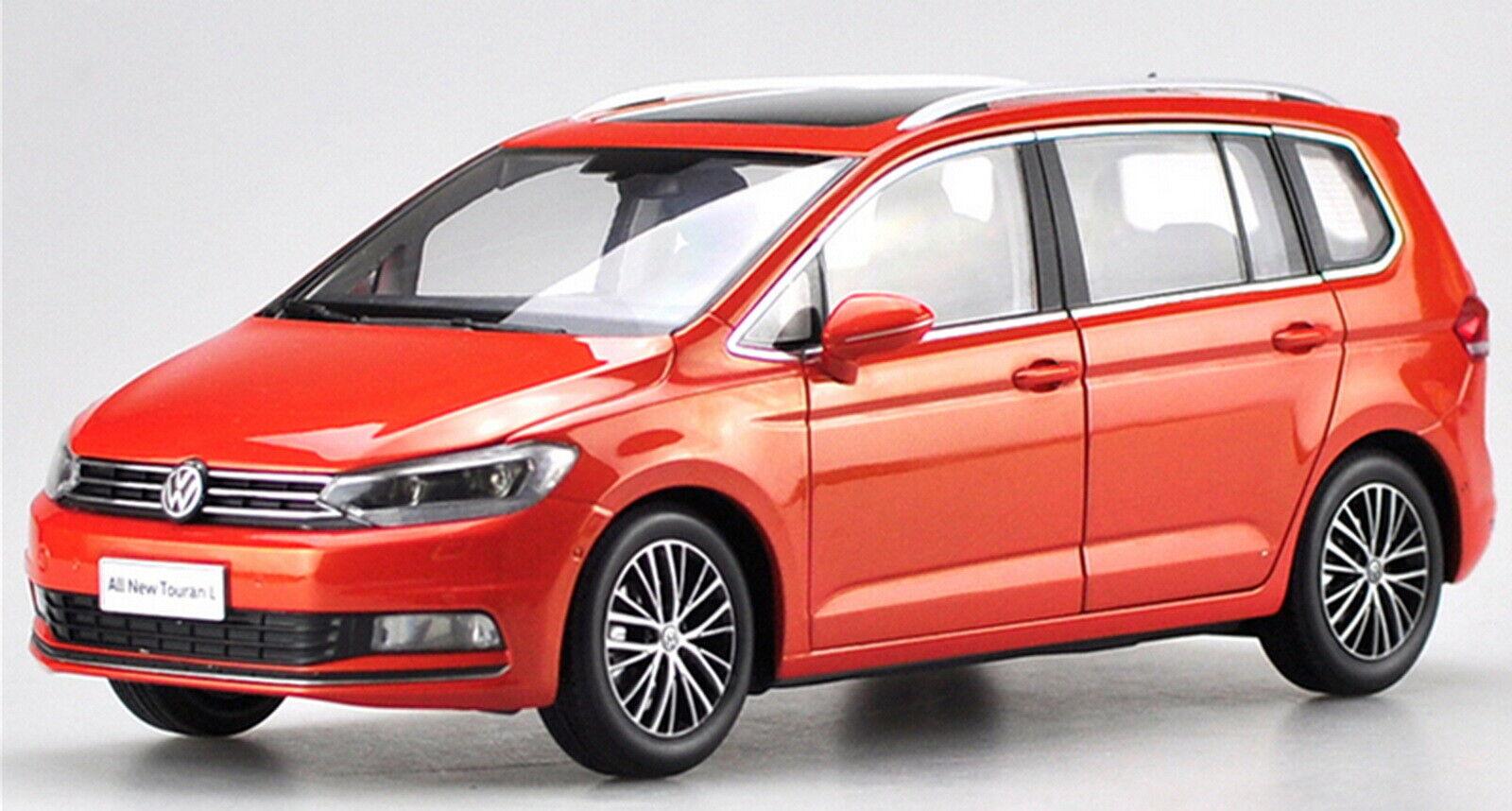 Échelle 1 18 VOLKSWAGEN TOURAN L 2016 rouge Diecast Car Model Toy collection