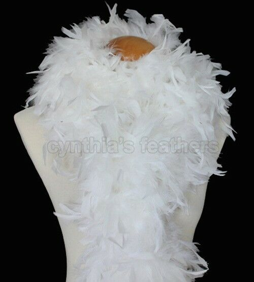 100g Chandelle Feather Boa boas Snow White, very fluffy