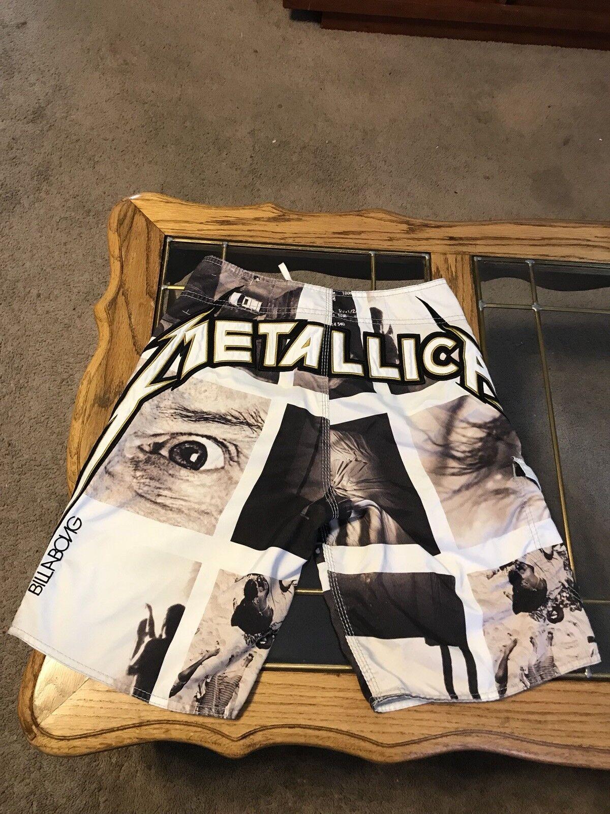 Metallica Billabong Shorts Size 28 Limited Edition