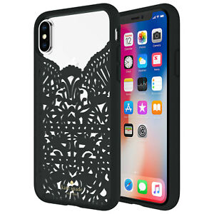 Kate Spade New York Lace Hard Shell Case iPhone X Black Clear KSIPH-077-LCBK-FR