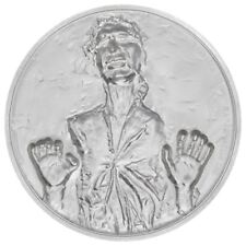 'Star Wars Han Solo in Carbonite 2 oz High Relief Silver Proof Coin' from the web at 'https://i.ebayimg.com/images/g/y5IAAOSw9KhaC2KX/s-l225.jpg'