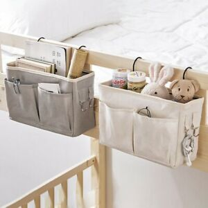 Bed-Holder-Organizer-Container-Bedside-Caddy-Hanging-Storage-Bag-Cloth-Pocket-xk