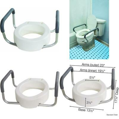 essential medical supply toilet seat riser with removable