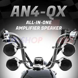 LibéRal 1200w Amplifier Bluetooth Waterproof Motorcycle Stereo Speakers Audio Mp3 System