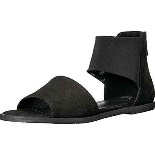 Eileen Fisher NuBuck Black suede Flat Sandals size