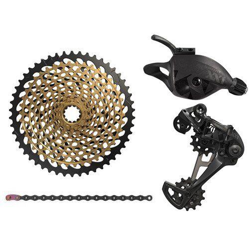 SRAM XX1 Eagle 12 Kit de Piezas Velocidad Bicicleta De Montaña 4 Pieza, gatillo palanca de cambios, Negro