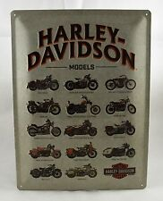 Superb Large Embossed Classic Harley Davidson Tin Plate Wall Sign VW 40cm x 30cm