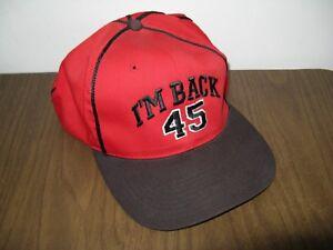 Headmaster I m Back 45 Michael Jordan Snapback Baseball Cap Hat Red ... 637811e268b