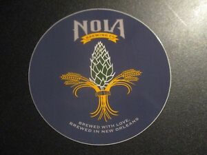 NOLA BREWING COMPANY new orleans Sticker Die Cut w Logo decal craft beer brewery