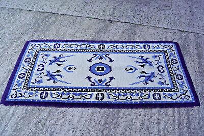 60er Kelim Teppich Handgeknüft Carpet Rug Shag (92 X 178) Wolle Orient 70er 4