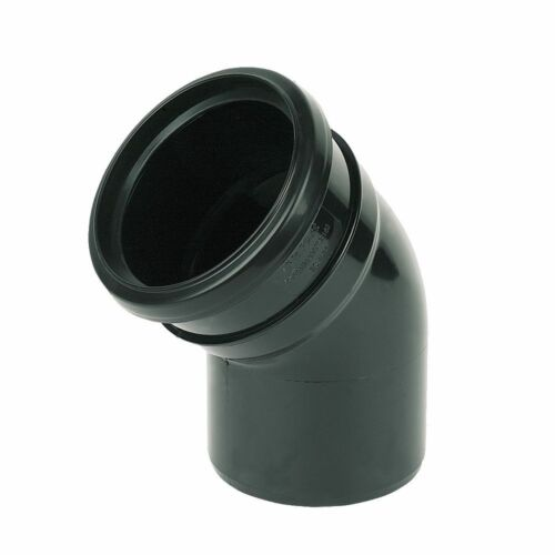 Black Soil Pipe and Ring Seal Fittings UPVC 110mm External Or Internal Use