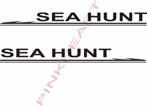 SEA HUNT boat boats SH vinyl sticker decals decal USA seahunt hull letters