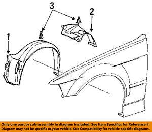 bmw oem 95 99 m3 front fender liner splash shield right 51711977048 BMW 330Ci Engine Diagram image is loading bmw oem 95 99 m3 front fender liner