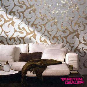 EUR-2-81-qm-Tapete-Marburg-La-Veneziana-53142-Barock-Vliestapete-Ornament-Gold