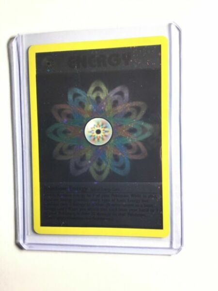 Pokemon WOTC League Rainbow Energy Holo Promo NEAR MINT