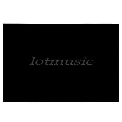 Guitar Bass Pickguard Sheet Scratch Plate Blank Material 3 Ply Black 43 x 29 cm