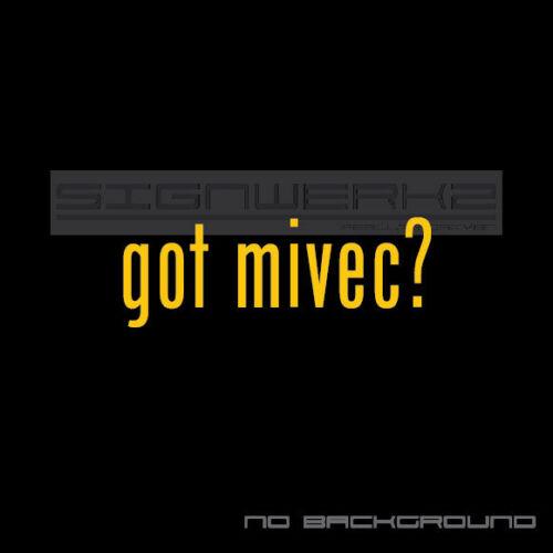 got mivec Decal Sticker Die Cut Decal Self Adhesive lancer evolution racing Pair