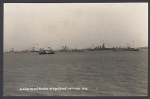Postcard-Royal-Navy-The-Jubilee-Naval-Review-at-Spithead-July-16th-1935-RPPC