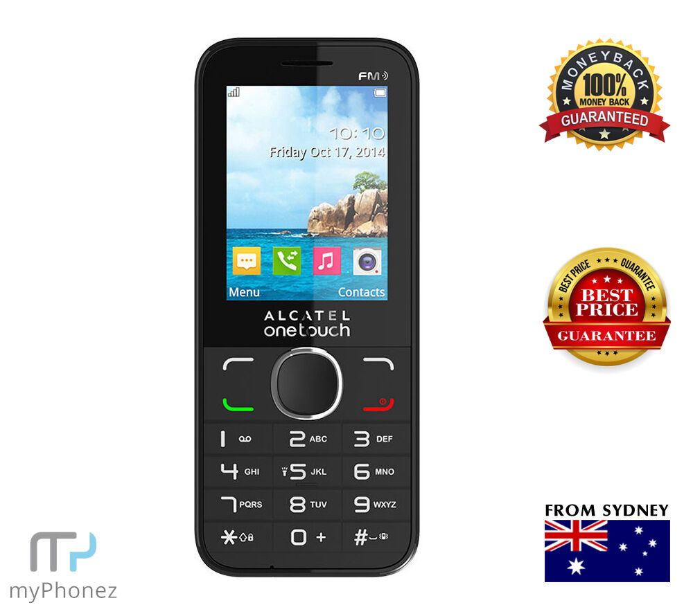 Brand New Alcatel Onetouch 2045 Black 3G Phone FM Radio Camera Unlocked OZ  Selle