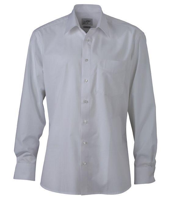 James & Nicholson Herren Langarm Hemd Business-freizeit Shirt I S - Xxl