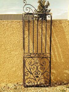 Grille ouvrante de defense protection porte en fer forge sur mesure ebay for Grille fer forge pour porte fenetre