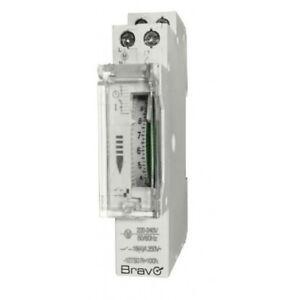 OROLOGIO MECCANICO timer per quadri elettrici DIN 230V BRAVO 93003222