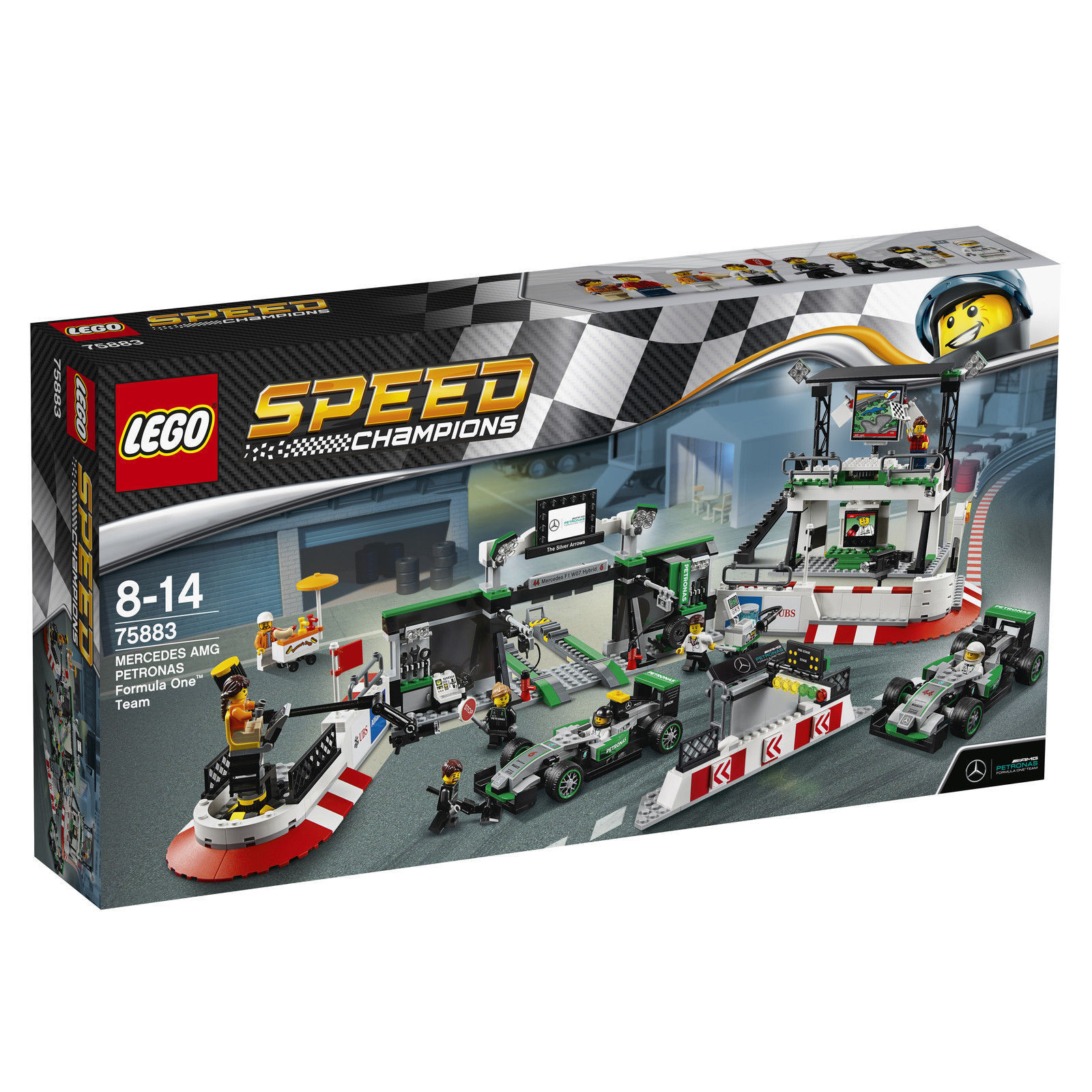 LEGO Speed Champions MERCEDES AMG PETRONAS Formula One Team 75883 NEU OVP