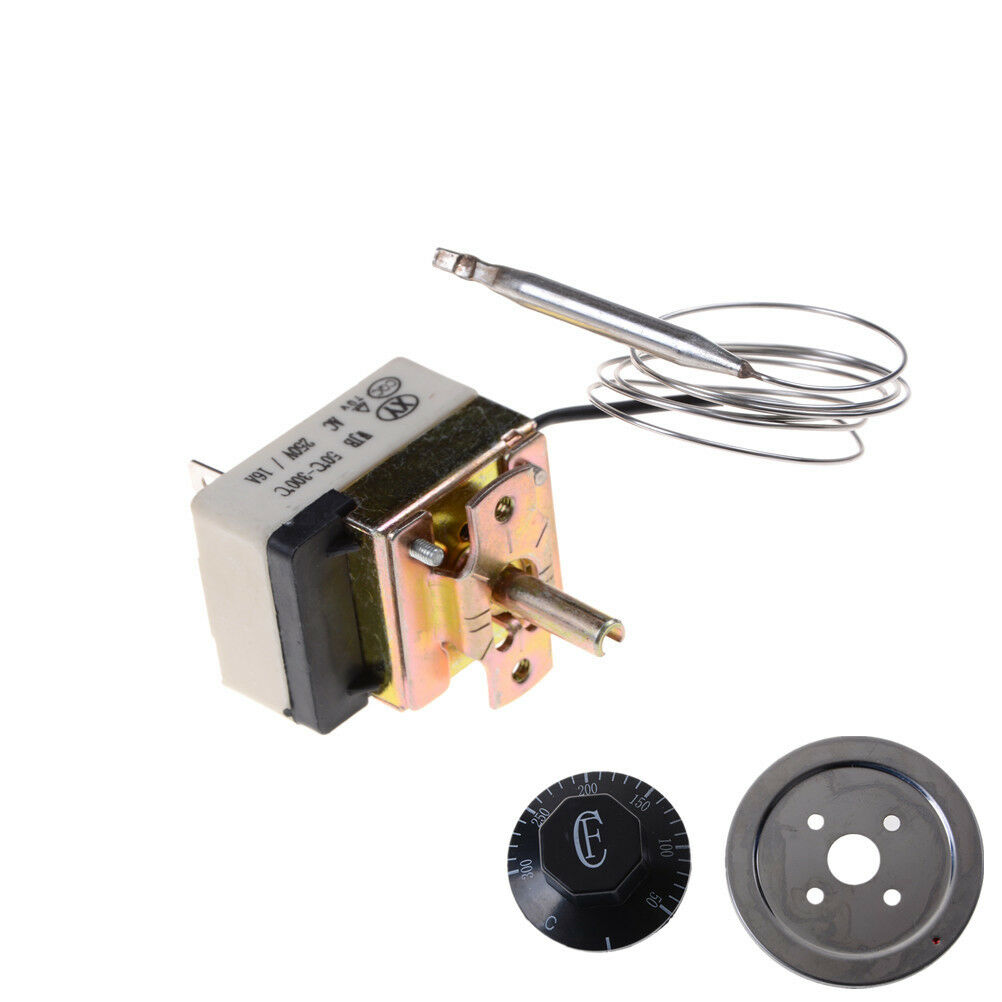 BHS 220V 16A Thermostat Temperature Control Switch for Electric Oven 50-300C US