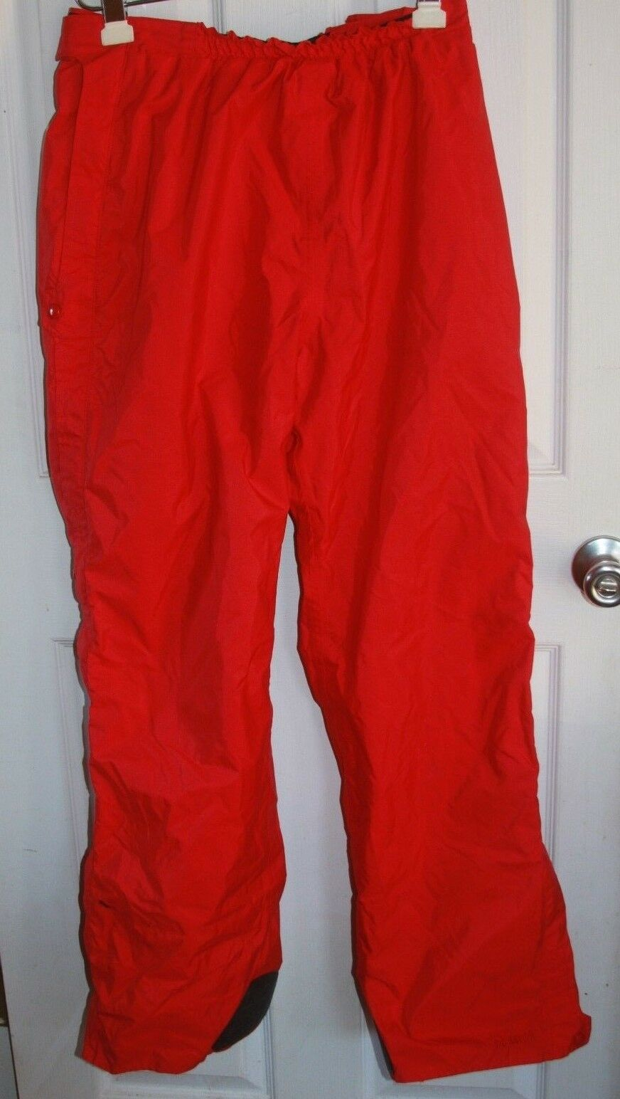 Marmot Ski/Snow Pants Womens XL Gore-Tex Red Full Zippered Legs