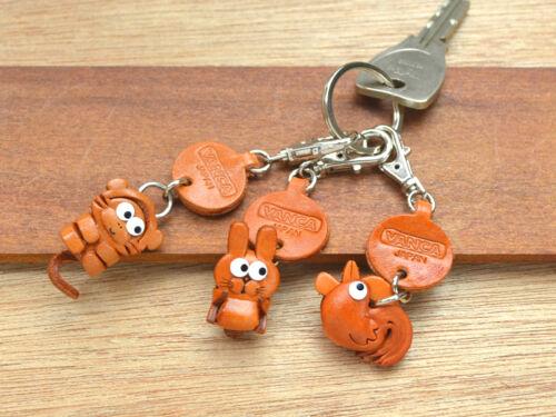 Little Cat Handmade Leather Zodiac Keychain *VANCA* Made in Japan #56251