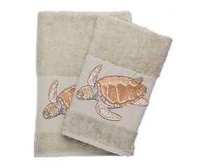 Turtle-Embroidered-Bath-And-Hand-Towel-Turkish-Cotton-By-Ebru