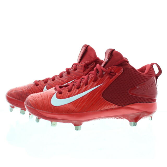 lowest price 4750d 6104d Nike Force Air Trout 3 Pro Mid Metal Men's Baseball Cleats Red Size 7.5