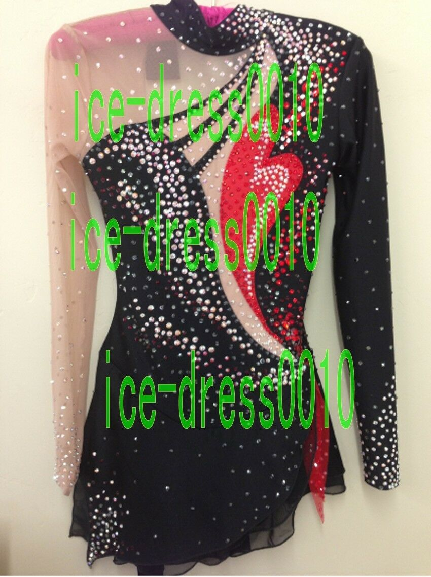 2018 new style Figure Skating competition Dress Ice Skating Dance Dress 8984