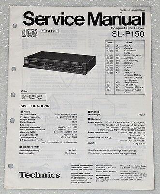 Technics Service Manual for the SL-PG440 CD Player~Repair~Original