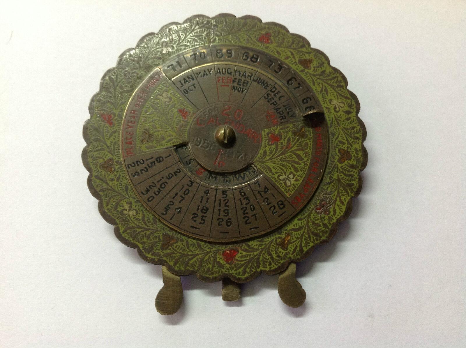 Utilisé - Très Rare Vintage Calendrier Perpétuel - Manuel - Occasion