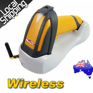 2018 Wireless Laser USB Barcode Scanner Handheld Portable+Contact Base Holder AU