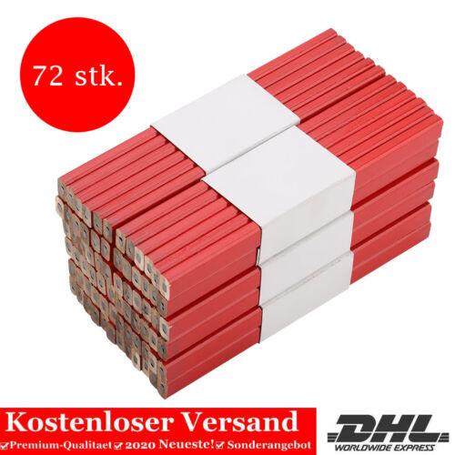 72 Stück Zimmermannsbleistift Baubleistift Bleistifte Bau Maurerbleistifte SU 03