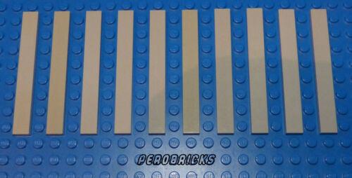 Lego Technik Technic 10 x Steine//Fliesen 1x8 hellgrau #4162