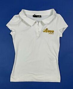 love-Moschino-maglia-donna-top-usato-bianco-crop-aderente-luxury-stretch-T5802