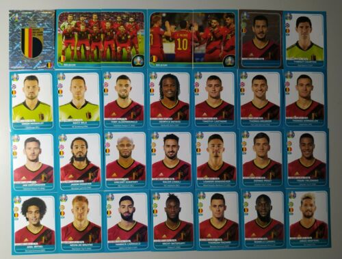 PANINI UEFA EURO 2020 PREVIEW SQUADRA COMPLETA COMPLETE TEAM LINE-UP Belgium