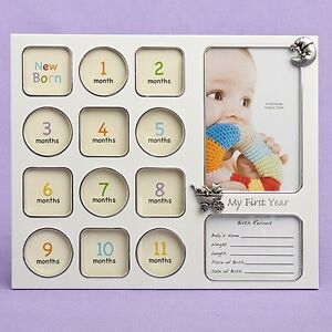 My First Year Baby Photo Picture Collage Frame Baby Shower Gift 12