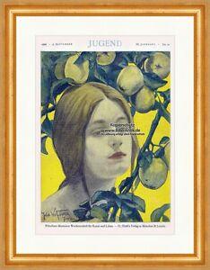 Titelseite Der Nummer 36 Von 1898 Julie Wolfthorn Apfel Baum Frau Jugend 3139 Ein GefüHl Der Leichtigkeit Und Energie Erzeugen Bilder