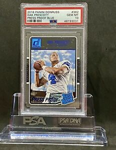 Dak-Prescott-2016-Donruss-362-Press-Proof-Blue-RC-PSA-10-Pop-Count-Only-59